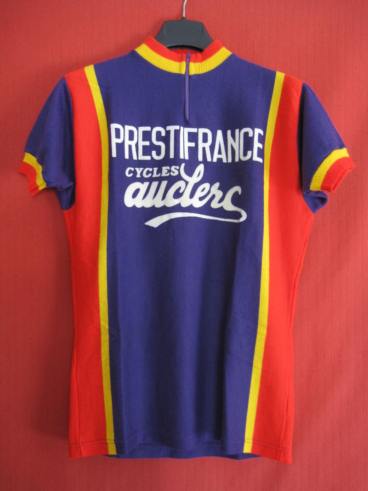 Maillot cycliste Vintage Prestifrance Cycles Auclerc 70'S Acrylique jersey - M