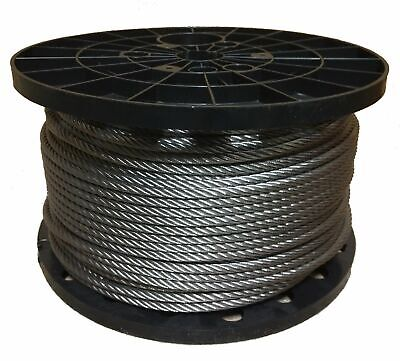 150 Feet 1//2 Galvanized Wire Rope Steel Cable IWRC 6x19