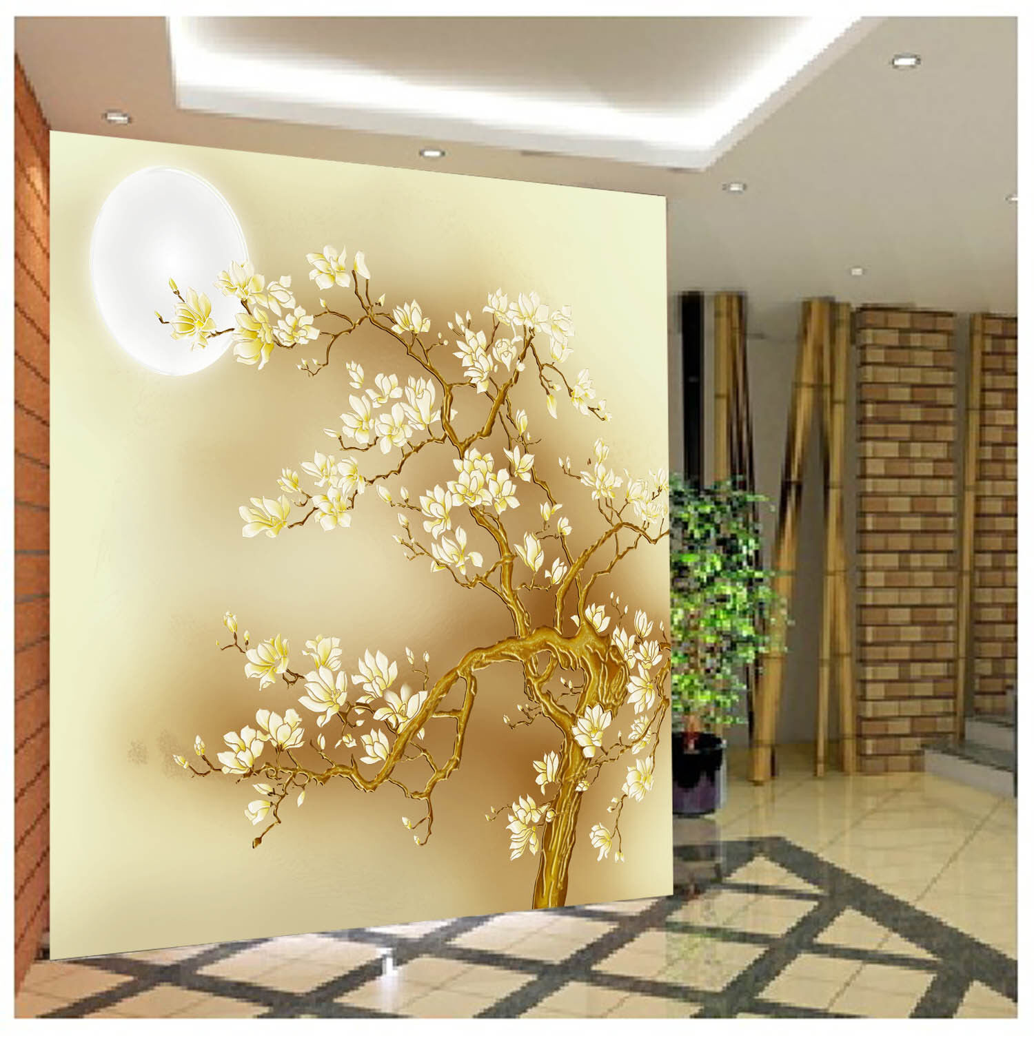 3D Mond Blaume Baum 743 Tapete Wandgemälde Tapete Tapeten Bild Familie DE Summer | Deutschland Store  | Um Sowohl Die Qualität Der Zähigkeit Und Härte  | Moderater Preis