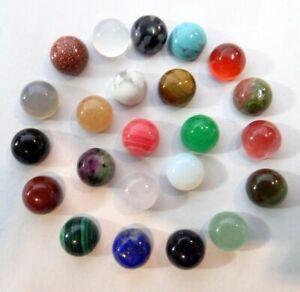 4-4MM-Natural-Mix-agate-Round-cabochon-Flatback-Semi-Precious-Gem-Jewelry-making