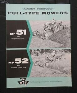 "1960 MASSEY-FERGUSON ""MF 51 52 PULL-TYPE MOWER"" SALES BROCHURE VERY NICE SHAPE"