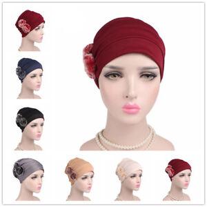Women New Hijab Cap Ladies Chemo Hat Hair Loss Scarf Headwear ... a4df3d395e9