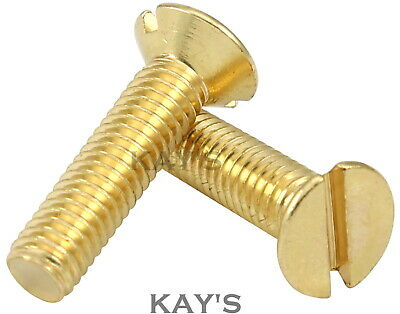 Slot CSK Countersunk Machine Screws with Nuts /& Washers Brass Selection Packs