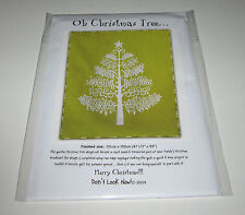 OH CHRISTMAS TREE QUILT SEWING PATTERN Fusible Applique
