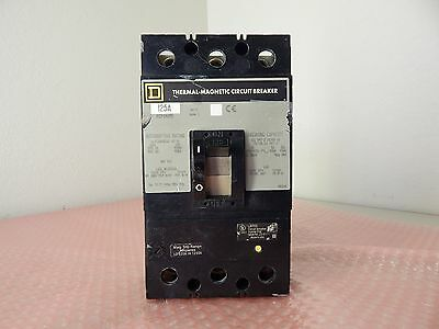 Square D thermal magnetic circuit breaker 125A 3 pole 480V KCP34125