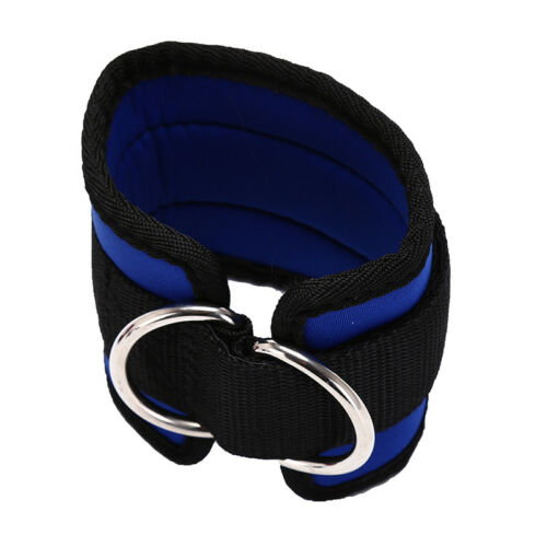 D-ring ankle anchor strap belt multi gym cable attachment thigh lifting new~ TD