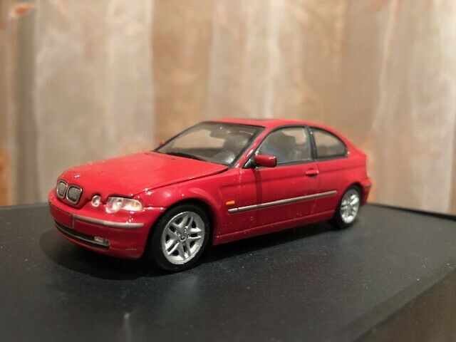 BMW 325ti E46 Compact 2000 1 43 Minichamps rot RARE