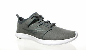 Saucony-Womens-Eros-Lace-Charcoal-Running-Shoes-Size-8-1297680