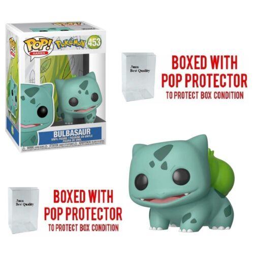 Funko Pokemon Bulbasaur Figurine Pop Vinyle #453 en Stock Mint avec Protector