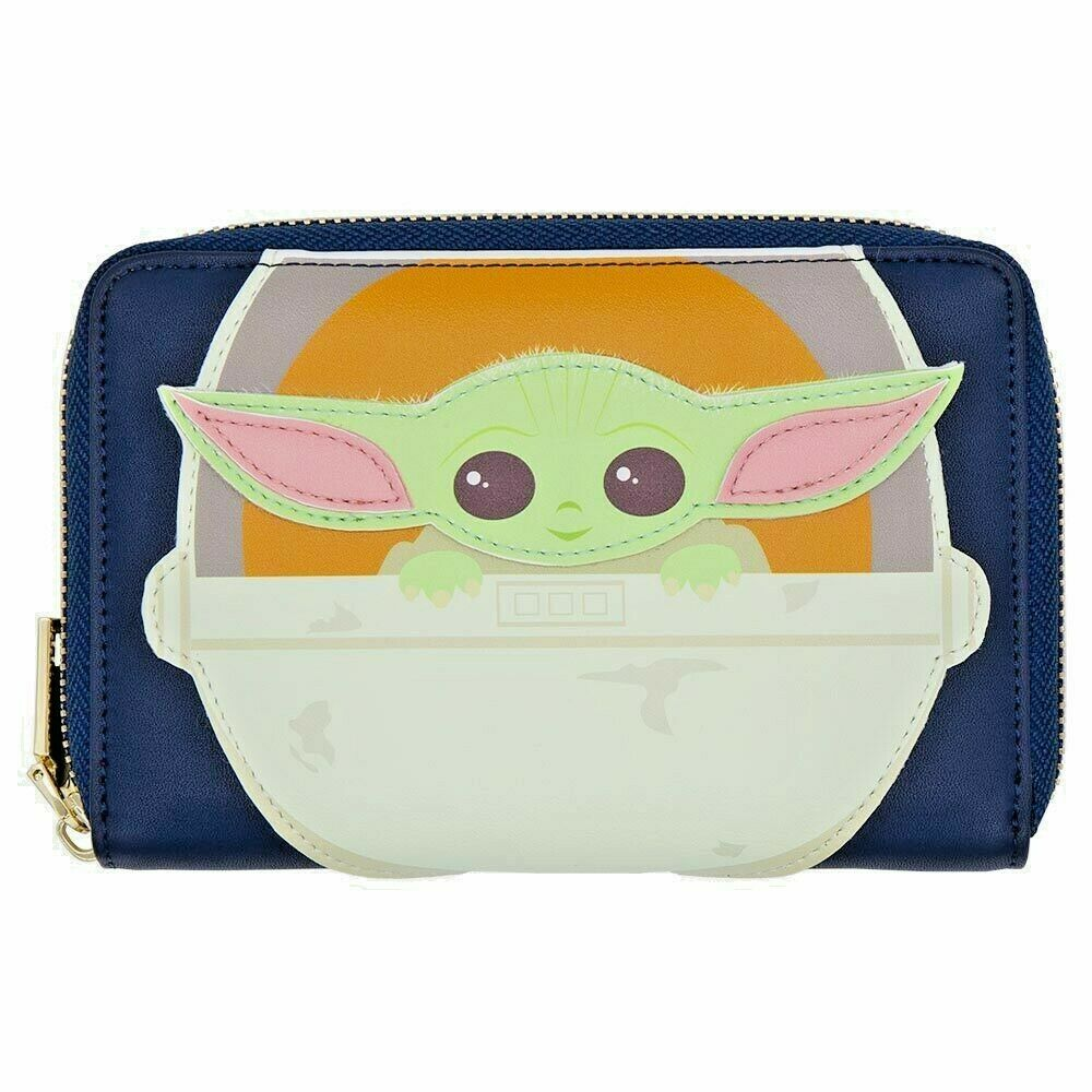 NEW Star Wars Wallet - The Mandalorian - The Child in Carriage Zip-Around