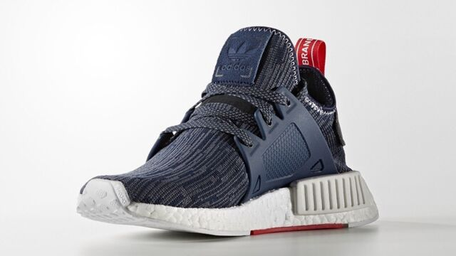 602f1cb733eb Adidas NMD XR1 PK W Primeknit Unity Blue Collegiate Navy   Red Women 7.5  BB3685