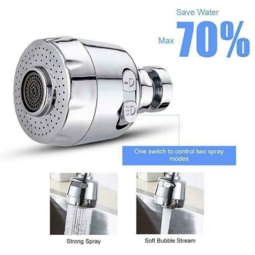Moveable Kitchen Tap Head 360° Rotatable Faucet Water Saving Filter Sprayer CA