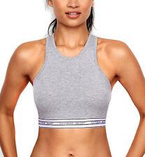 NEW Genuine VICTORIA'S SECRET Grey Logo Bralette Sports Bra Womens Size Large