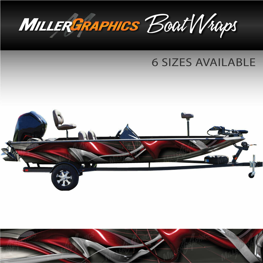 Typhoon Red Boat Wrap Kit 3M Cast Vinyl Graphic  Decal - 6 Sizes Available  outlet on sale