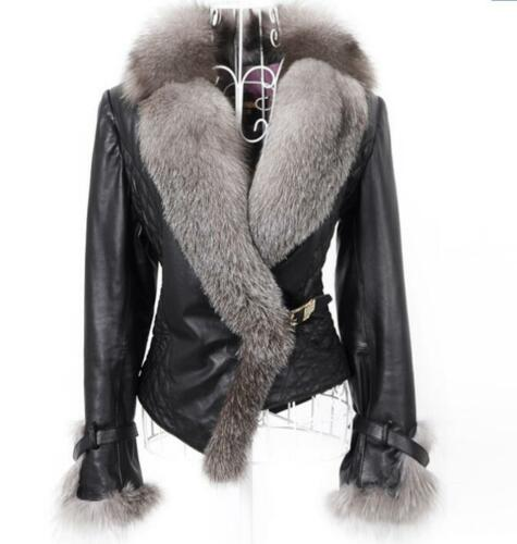 Short Outwear Pu Coat Parka Big Warm Winter Overcoat Læder Kvinders Fur Jacket 5qvY4tnxn