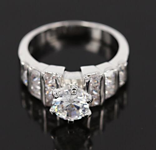 18K ROSE GOLD GF ANTIQUE SQUARE solitaire DIAMOND ENGAGEMENT WEDDING DRESS RING