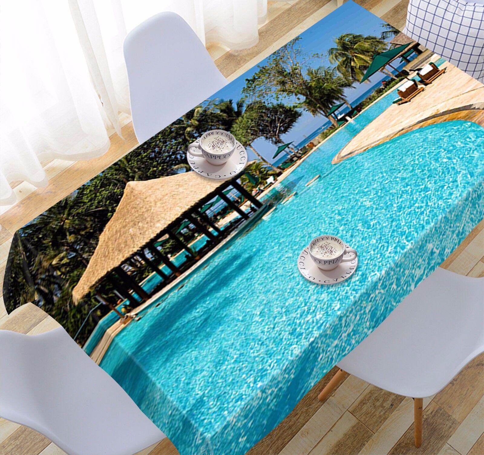 3D Bleu Piscine 96 Nappe Table Cover Cloth Fête D'Anniversaire événement AJ papier peint UK