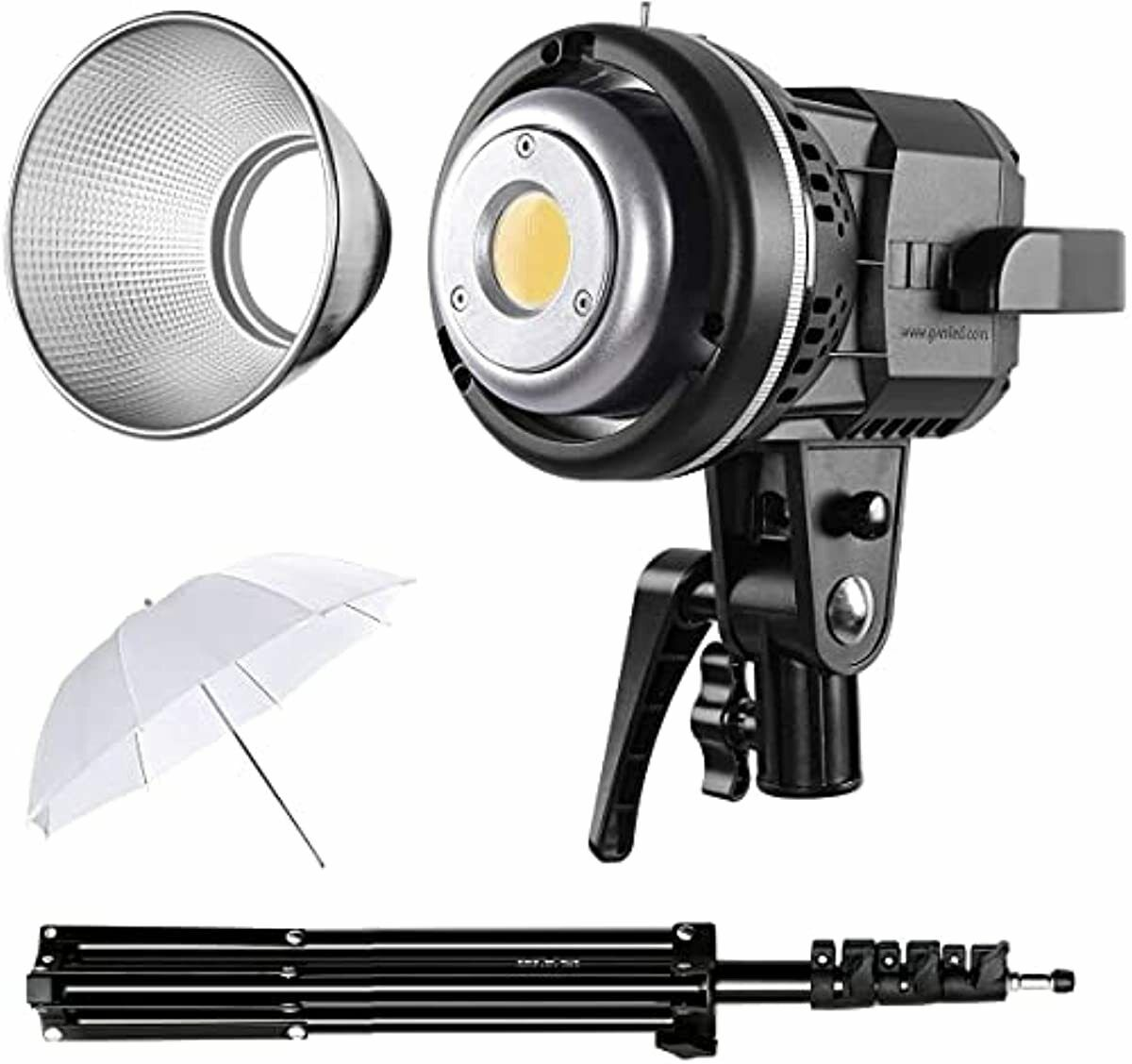 GVM 80W LED Video Lights with Bowens Mount Kit, Continuous Output Lighting 5600K