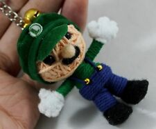 Luigi Voodoo Keychain Ring String Doll Toy Handmade Movie Handcraft Mario New