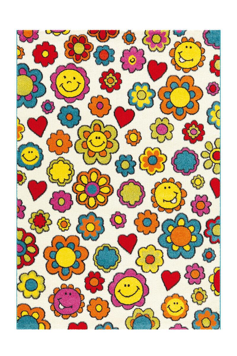 Enfants Tapis Fleurs Fleurs Tapis Motif chambre enfant Couleuré jaune 120x170cm