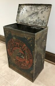 VINTAGE-1800-s-LARGE-HUNTLEY-amp-PALMERS-SUPERIOR-READING-BISCUIT-TIN-STORE-BIN