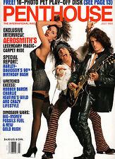PENTHOUSE July 1993-Aerosmith Intvw, 3 Girl Action Pics, Hot Pet Michelle *BONUS