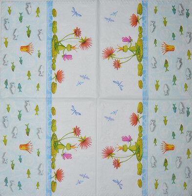 PAPER TABLE NAPKINS FOR CRAFT VINTAGE SPRING FLOWER DECOUPAGE TEA PARTIES 430
