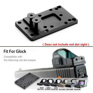 HQ Tactical Pistol Red Dot Sight Scope Base Fit For Glock 17 19 Rail Mount Free