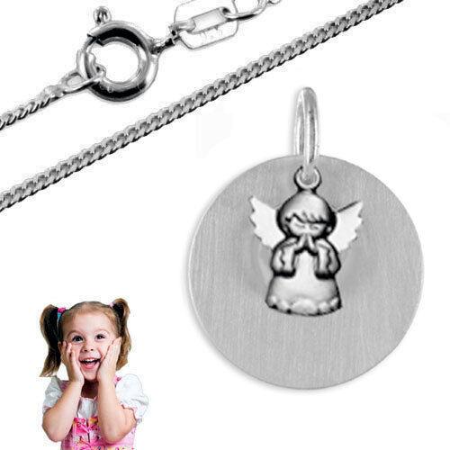 Kette/&Gravur Taufkette,Kinderkette,Gravur Platte mit Schutzengel Silber925
