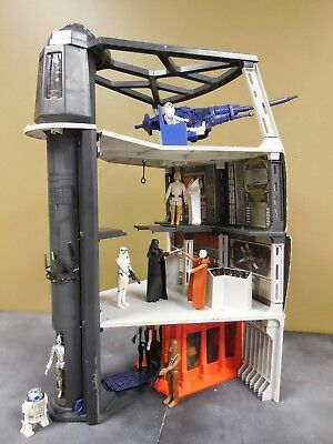 Vintage Star Wars Death Star Playset Parts Rope Beam Supports Column Pieces
