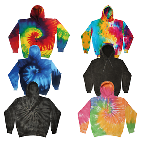 Colortone-Tie-Dye-Hoodie-Sweater-Jumper-S-2XL-Pride-Festival