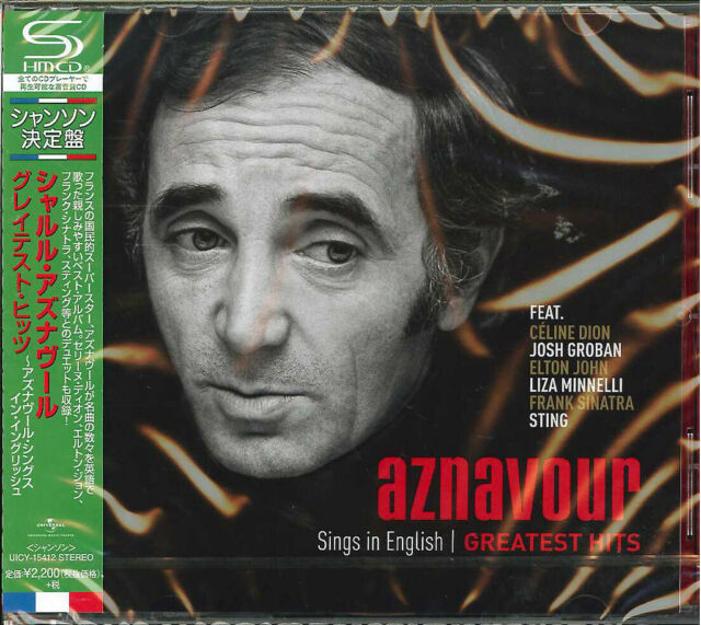CHARLES AZNAVOUR-AZNAVOUR SINGS IN ENGLISH - OFFICIAL...-JAPAN SHM-CD E78