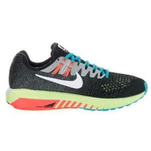 purchase cheap ac690 a6c2d Image is loading Womens-NIKE-AIR-ZOOM-STRUCTURE-20-Black-Running-
