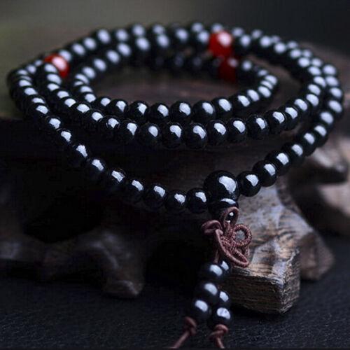 Sandelholz Tibet Buddhismus Mala Sandale Gebetskette 108 Perlen Armband Hal sp