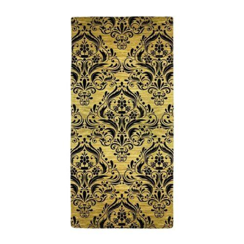 1659186797 CafePress DAMASK1 BLACK MARBLE /& GOLD BRUSHED ME Beach Towel