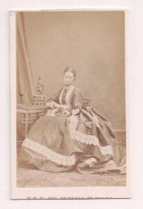Vintage-CDV-Princess-Alexandra-of-Denmark-Queen-of-Great-Britain-Disderi-Phot