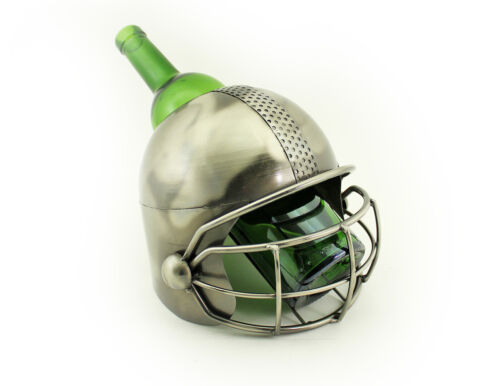 Wine Bodies Large Football Player Helmet Metal Wine Bottle Holder