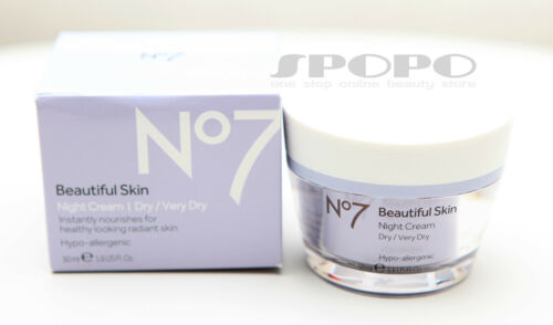 BOOTS No7 Beautiful Skin Night Cream 50ml DryVery Dry Skin 100% Authentic