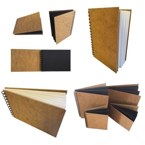 eco-arts sketch book pad scrapbook hardback wirobound white black kraft a5 a4 a3