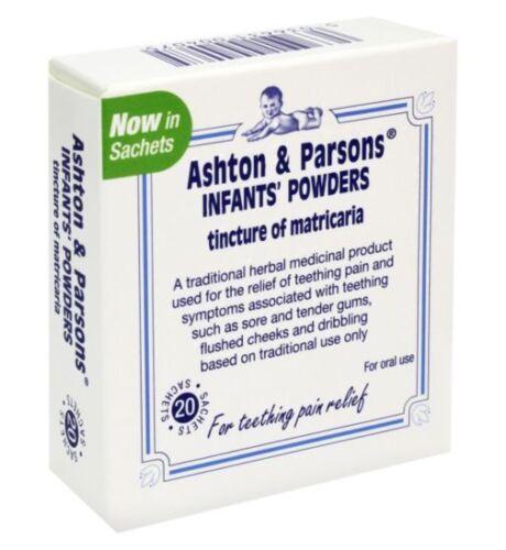Ashton and Parsons Teething Powders20 SachetsUK PHARMACY STOCK