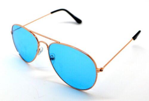 PT Lunettes de Soleil Aviateur Homme Femme UV 400 Miroir Bleu