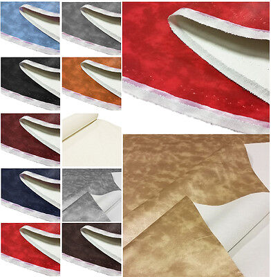 LEATHERETTE PRINTED MATERIAL FAUX LEATHER UPHOLSTERY VINYL CRAFT FABRIC 1 METRE