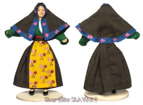 ITALIAN FOLK COSTUME DOLL Italy regional ethnic dress shawl Sardinia region