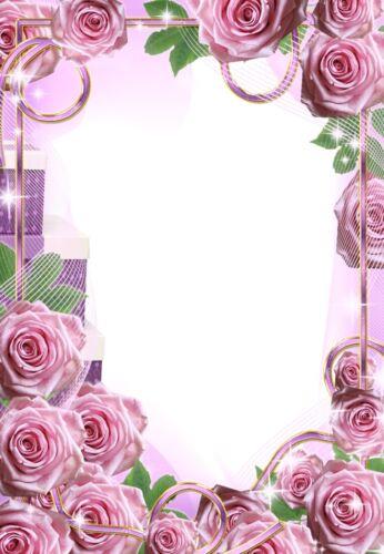 20 Blatt Briefpapier Motivpapier mit Blumen-Blüten-Motiv 100g//qm Rosen