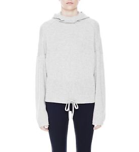 4e9996a98ee Details about New $495 Helmut Lang Core Cashmere Drawstring Hoodie in Light  Heather Grey sz XS
