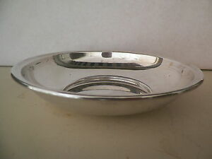4 Wallace Sterling Silver Hammered Round Sauce//Salt Dish .925