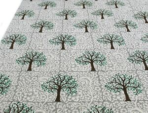 Indian-The-Palm-Tree-Fabric-Hand-Block-Handmade-Printed-Clothes-5-Yards-Crafts