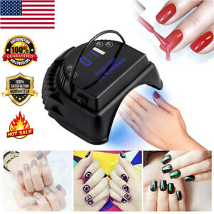 36LED-64W-Cordless-Lamp-Gel-Nail-Polish-Dryer-Nail-Wireless-Rechargeable-new