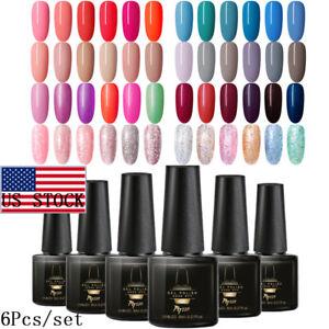 6Bottles-Set-MTSSII-6ml-UV-Gel-Nail-Polish-Soak-Off-Varnish-Manicure-US-STOCK