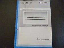 Original Kundendienstanleitung Sony ST-JX3L